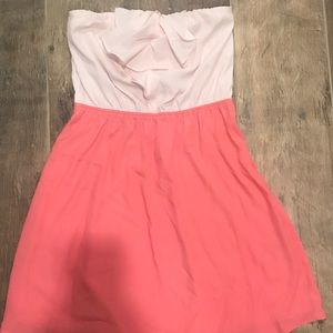 Women's express two tone pink dress above knee